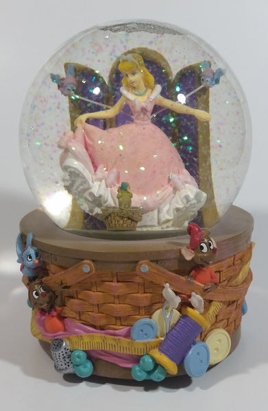 "Enesco Disney Cinderella Musical Snow Globe Collectible Ornament Plays ""A Dream Is A Wish Your Heart Makes"" - Working"