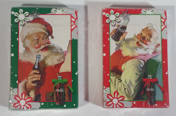 2 Packs of Coca-Cola Coke Santa Christmas Themed Bicycle Brand Green and Red Playing Cards Still Sealed, New in Package