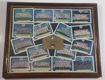 "Maxwell House Limited Edition Team Cards 1977-1992 Toronto Blue Jays MLB Baseball Team Set of 16 Cards in Wooden Frame 12 1/4"" x 15 1/4"""