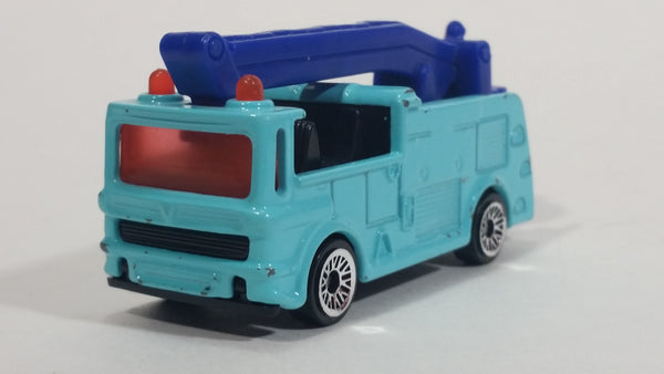 2002 Matchbox Snorkel Fire Truck Light Blue Die Cast Toy Car Vehicle McDonald's Happy Meal #4