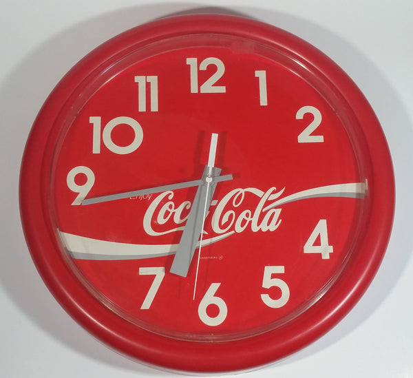 "1992 Ritway Inc. Coca-Cola Coke Soda Pop Red Round Circular 14"" Clock Collectible"