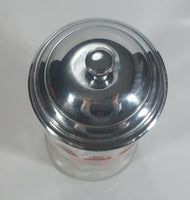 "Tablecraft Coca-Cola Glass and Metal 11"" Tall Straw Holder Beverage Collectible"