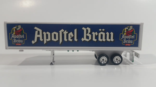 Rare Golden Wheels Apostel Brau Beer White and Blue Semi Trailer Plastic Die Cast Toy Car Vehicle