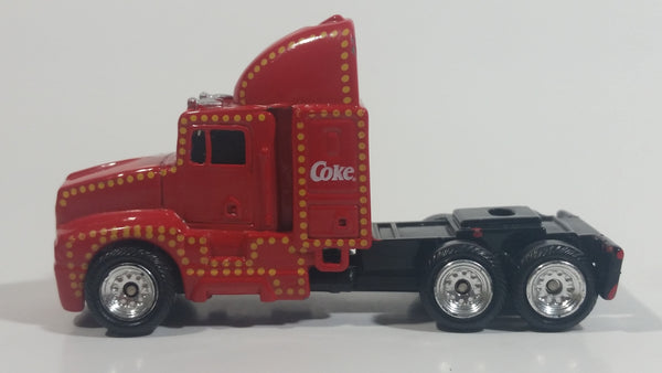 Coca-Cola Coke Soda Pop Christmas Themed Semi Tractor Truck Red Die Cast Toy Car Vehicle