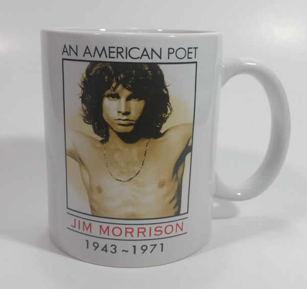 The Doors An American Poet Jim Morrison 1943-1971 Shirtless White Coffee Mug Music Musician Band Collectible