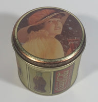Coca-Cola Coke Soda Pop Small Round Vintage Reproduction Tin Container Beverage Collectible
