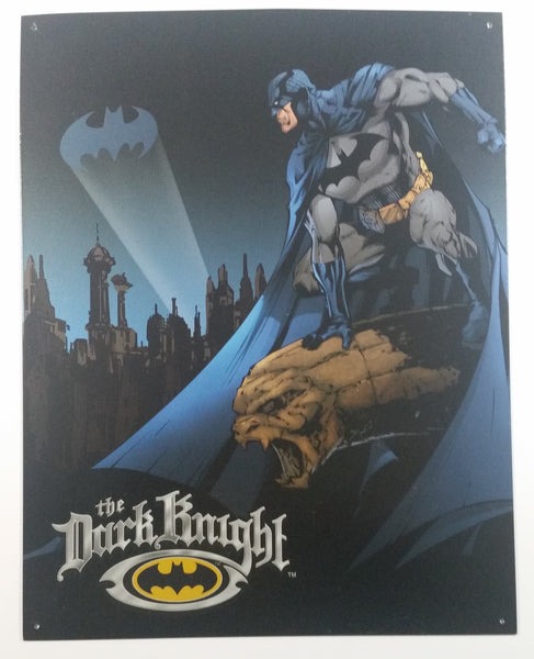 "Batman The Dark Knight 12 1/2"" x 16"" Tin Metal Sign DC Comics Superhero Collectible"