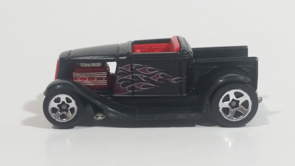 2001 Hot Wheels First Editions Hooligan Satin Black Die Cast Toy Car Hot Rod Vehicle