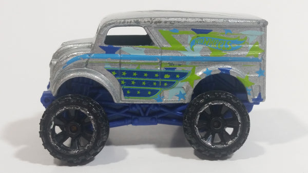 2014 Hot Wheels HW Off-Road Daredevils Monster Dairy Delivery Silver Grey Truck Die Cast Toy Car Vehicle