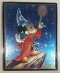 Magic Effects Disney Fantasia Wizard Mickey Mouse Touching The Moon Framed Art Print Picture Cartoon Character Collectible