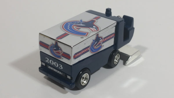 2003 Fleer White Rose Collectibles Vancouver Canucks NHL Ice Hockey Zamboni Die Cast Collectible Toy Ice Resurfacer