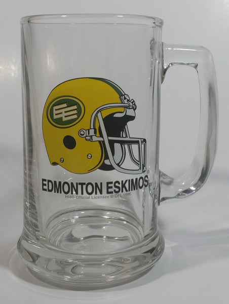 CFL Canadian Football League Edmonton Eskimos Sports Team Glass Beer Mug Collectible