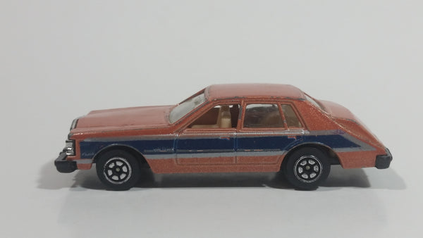 Vintage Yatming Road Tough Street Machines Cadillac Seville No. 1026 Brown Die Cast Toy Car Vehicle
