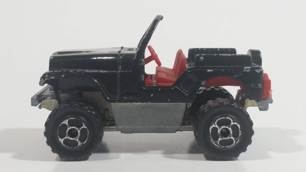 Majorette Jeep CJ 4x4 No. 290 & No. 244 Black 1/54 Scale Die Cast Toy Car Vehicle