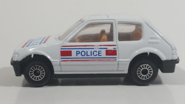 Very Rare HTF Sohbi Volkswagen VW Golf Police Cop White Die Cast Toy Car Emergency Rescue Vehicle