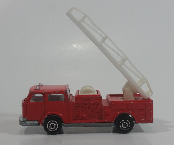 Vintage Majorette Pompier Fire Ladder Truck No. 207 Red 1/100 Scale Die Cast Toy Car Firefighting Rescue Emergency Vehicle