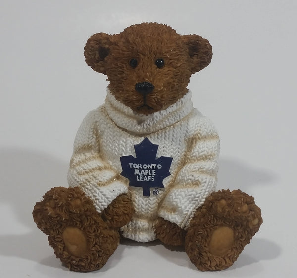 NHL Ice Hockey Limited Edition Toronto Maple Leafs Sports Team Resin Bear Decorative Ornament Collectible