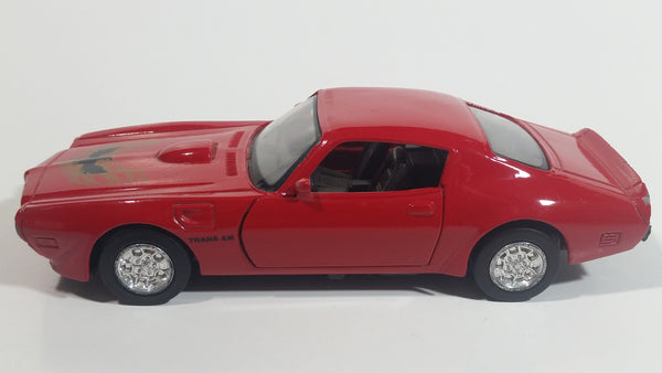 1999 New Ray 1973 Pontiac Fire Bird Red Pullback Motorized Friction Die Cast Toy Car Vehicle with Opening Doors