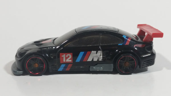 2012 Hot Wheels BMW M3 GT2 Black Die Cast Toy Race Car Vehicle