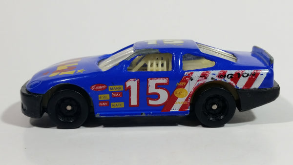 Unknown Brand #15 Stock Car Blue Die Cast Toy Race Car Vehicle