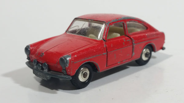 Vintage Lesney Matchbox Series Volkswagen 1600TL Red No. 67 Die Cast Toy Car Vehicle With Opening Doors