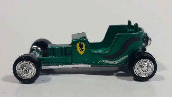 Vintage Zylmex Red Baron Emerald Green D16 Die Cast Toy Car Vehicle Hong Kong