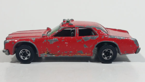1981 Hot Wheels Fire Chaser Red Die Cast Toy Car Firefighting Rescue Emergency Vehicle - BW - Raised Hong Kong