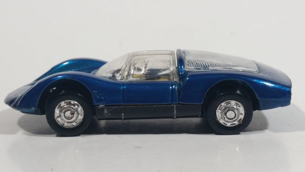 Vintage PlayArt Porsche Carrera 910 Dark Metallic Blue Die Cast Toy Car Vehicle - Hong Kong