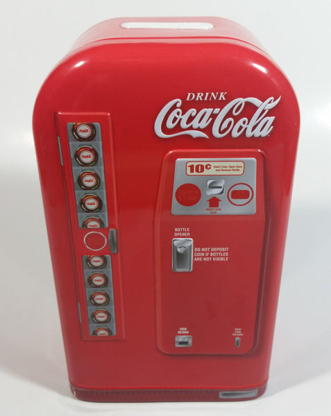 Coca-Cola Have A Coke Soda Pop Refrigerator Vending Machine Shaped Tin Metal Coin Bank Collectible