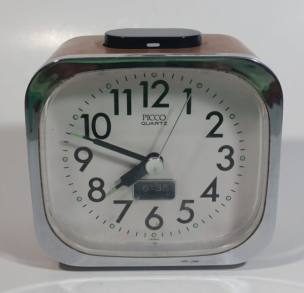 Picco Quartz Glow in The Dark Travel Alarm Clock - Working - Made in Japan
