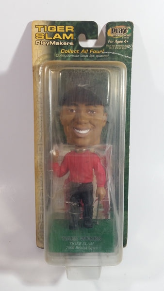 "2002 Upper Deck Collectibles Tiger Slam PlayMakers Tiger Woods Golfer 2000 British Open Champion 7"" Tall Bobblehead Figure Sealed in Package"