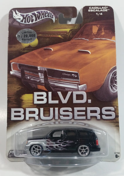 2004 Hot Wheels Metal Collection Auto Affinity Blvd. Bruisers Cadillac Escalade Black and Silver 1/4 Limited Edition 1 / 20,000 Die Cast Toy Car SUV Vehicle New in Package Sealed