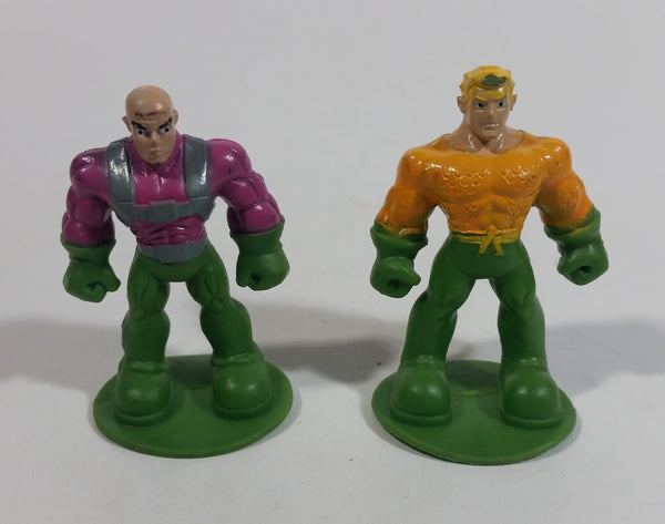 "DC Comics Aquaman and Lex Luthor Miniature Mini Tiny 2"" Tall Toy Figures"