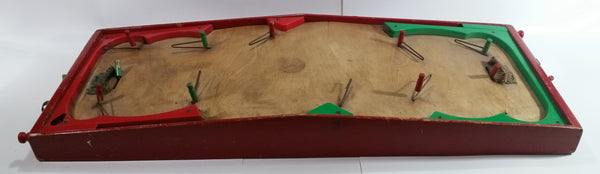 Rare Antique 1940s Munro Games National Hockey Wood and Plastic Pinball Style Table Top Ice Hockey Game