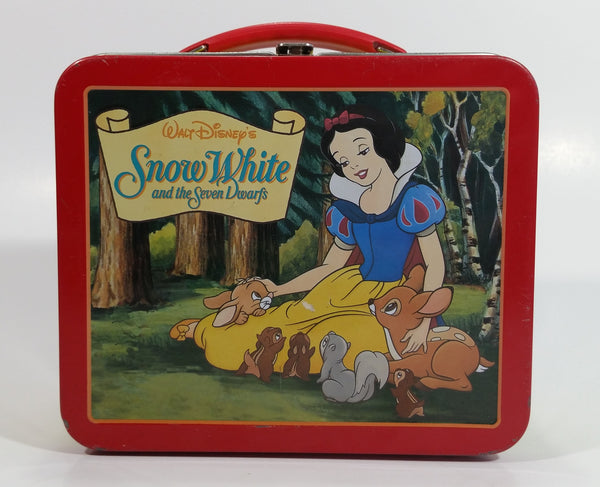Hallmark School Days Walt Disney's Snow White and the Seven Dwarfs Mini Red and Yellow Tin Metal Lunch Box