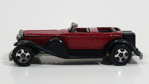 2001 Hot Wheels 1931 Duesenberg Model J ('31 Doozie) Dark Red Die Cast Toy Car Vehicle No. 176