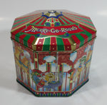 1997 M&M's Limited Edition Christmas Village Series Carousel Number 05 Merry Go Round Metal Tin Container Chocolate Candy Sweets Collectible