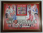"2004 The Untouchables Limited Edition Arsenal Football Soccer Club Framed Team Collage #372 of 2004 Sports Collectible 13 1/2"" x 17 1/2"""