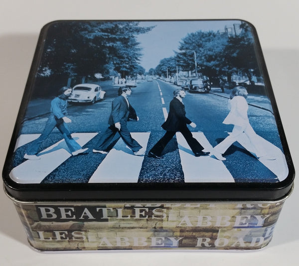 2002 The Beatles Abbey Road Tin Metal Container Music Band Collectibles - Empty Just the Tin