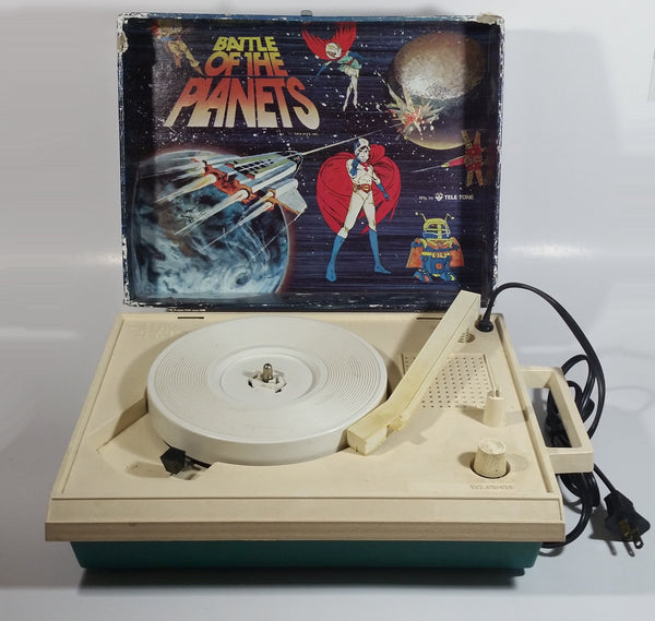 Very Unique Vintage 1979 SFFS Tele-Tone Battle of The Planets 33 and 45 RPM Record Player