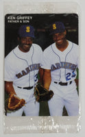 1991 Mother's Cookies MLB Baseball Ken Griffey Jr. and Ken Griffey Sr. Sports Trading Card - Mint - Sealed Never Opened