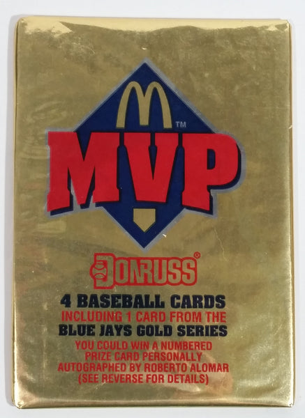 1992 Donruss MVP McDonald's Gold 4 Pack of MLB Baseball Trading Cards - Never Opened - Still Sealed