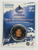 2006 - 07 The Province Time Colonist NHL Ice Hockey Mini Puck Collection Vancouver Canucks Alexandre Burrows New sealed in Package