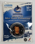 2006 - 07 The Province Time Colonist NHL Ice Hockey Mini Puck Collection Vancouver Canucks Henrik Sedin New sealed in Package