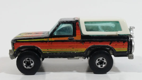 1982 Hot Wheels Ford Bronco Black Die Cast Toy Car SUV Vehicle BW Malaysia