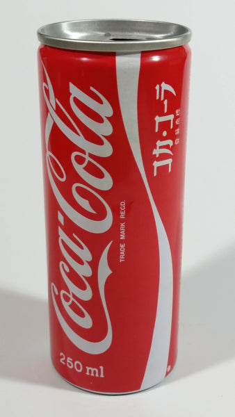 Japanese Coca-Cola Coke Cola Metal Pull Tab Soda Pop Can 250mL