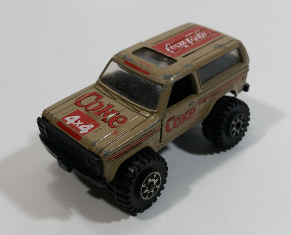 1988 Hartoy Coca Cola Coke Soda Pop Chevrolet Blazer Brown White Red Die Cast Toy Car Vehicle with Opening Doors
