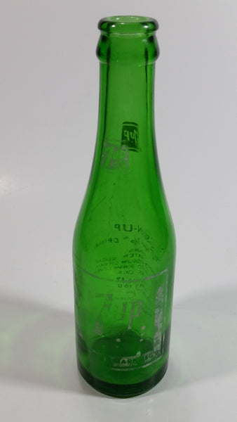 Vintage 1960s 7up Soda Pop 7 Fl. oz Green Glass Beverage Bottle Vancouver, BC
