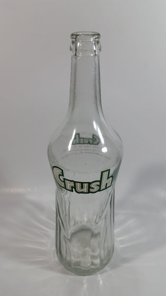 Rare Vintage 1 Pint Orange Crush Soda Pop Glass Bottle Evanston, Illinois