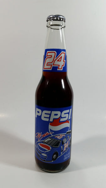 1993 Pepsi Cola Racing NASCAR #24 Jeff Gordon Longneck Glass Beverage Bottle Full Never Opened 355mL